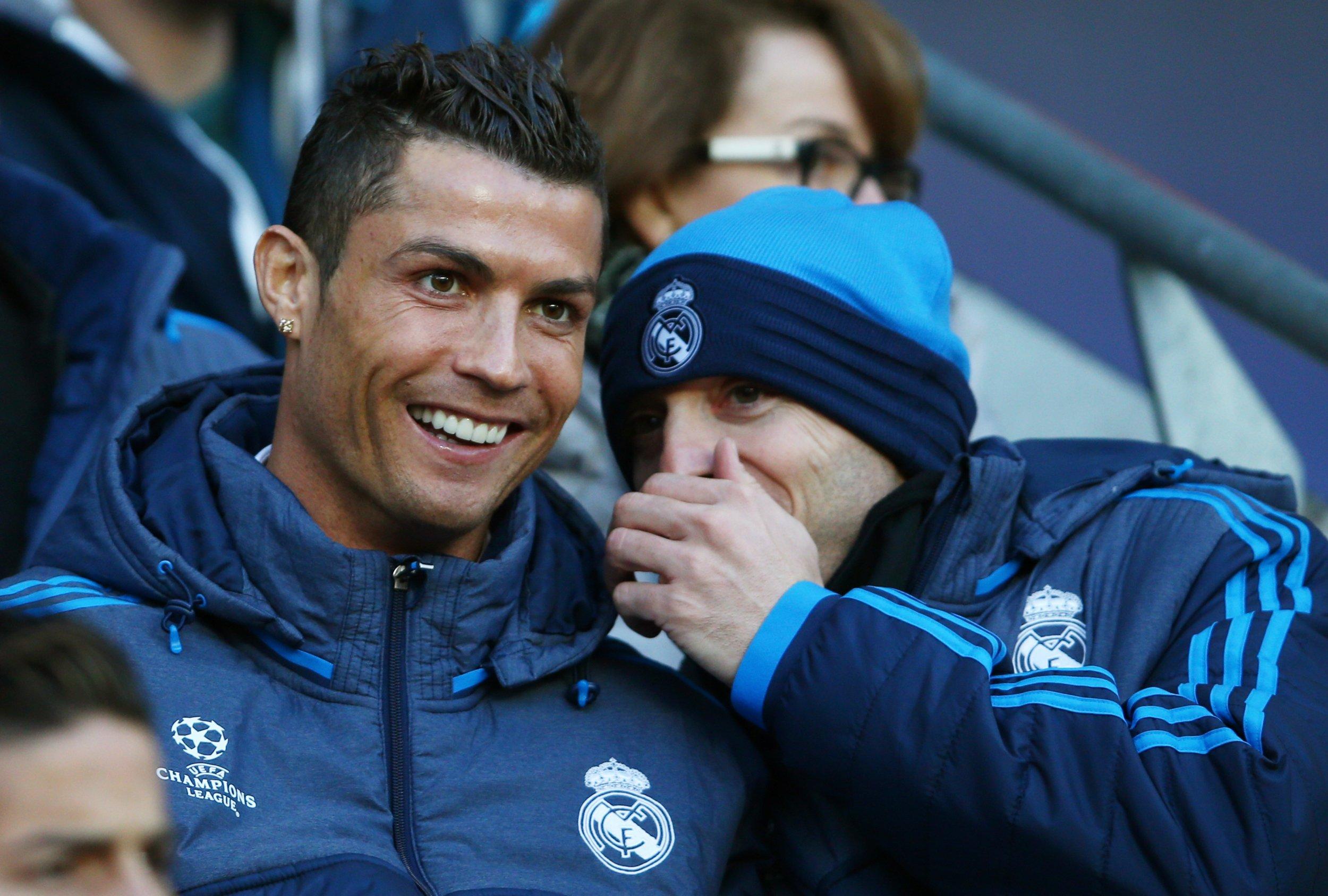 Real Madrid star Cristiano Ronaldo, left.