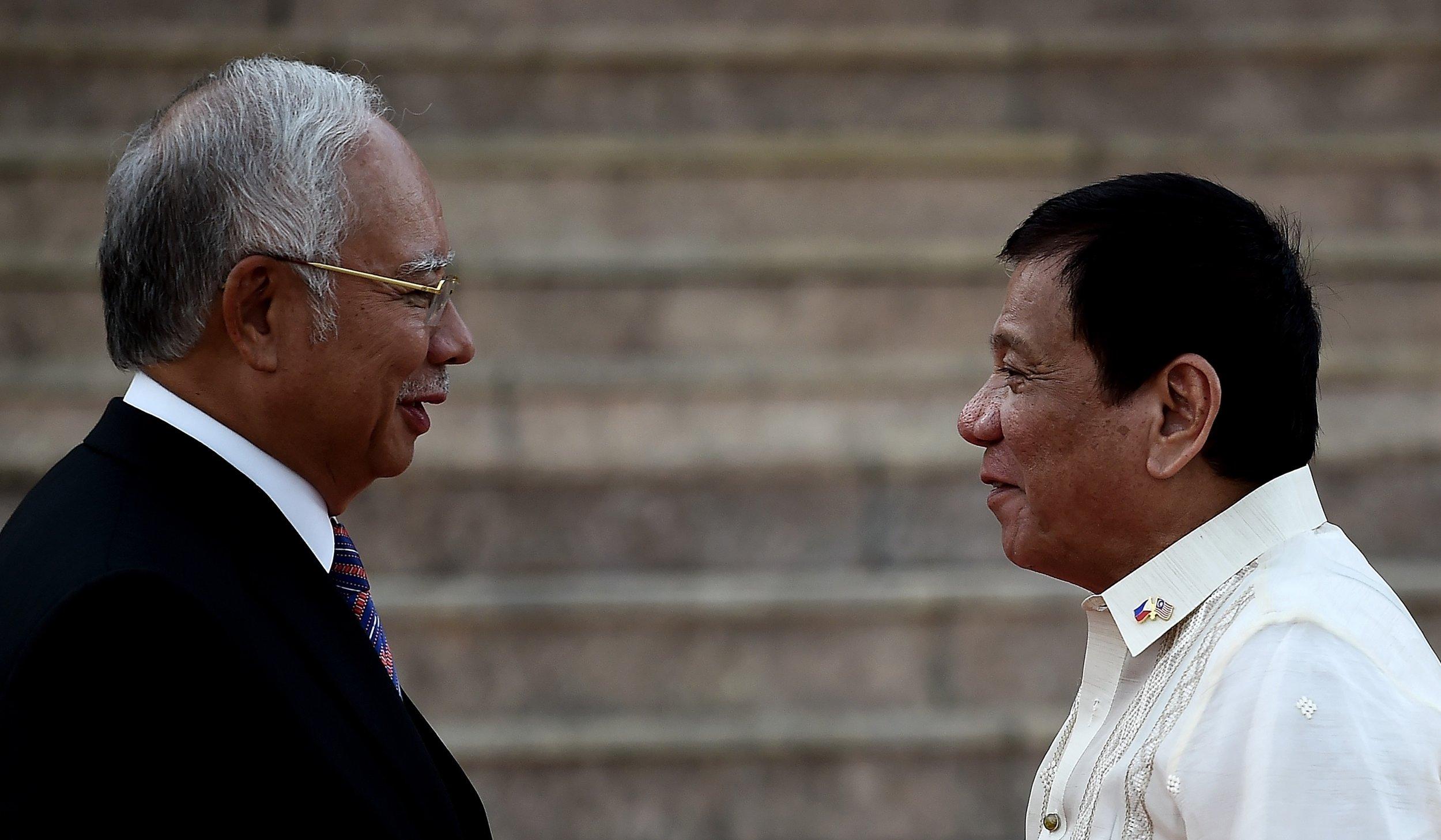 Najib Razak and Rodrigo Duterte
