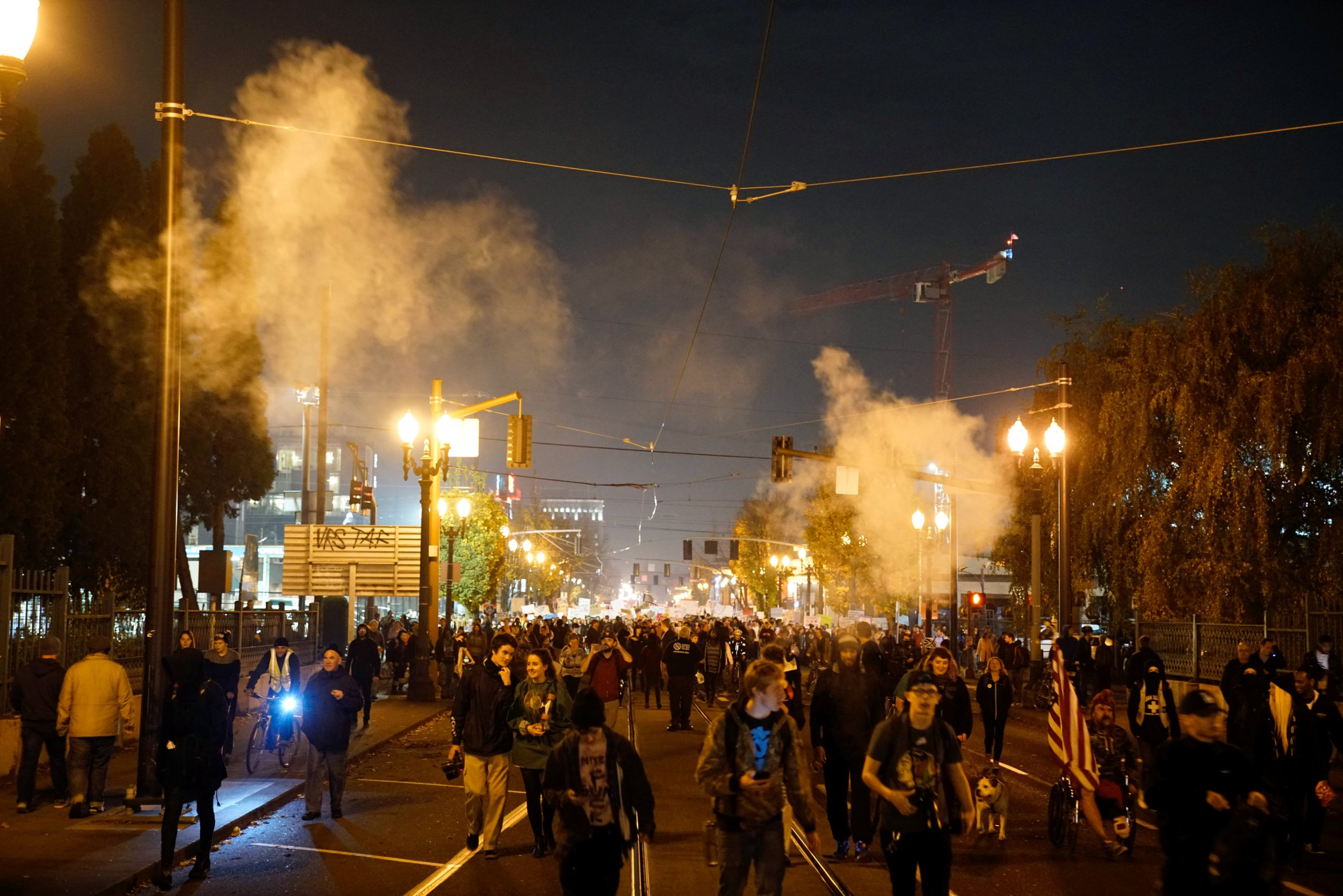 Donald Trump protests Portland