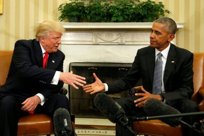 Donald Trump and Barack Obama