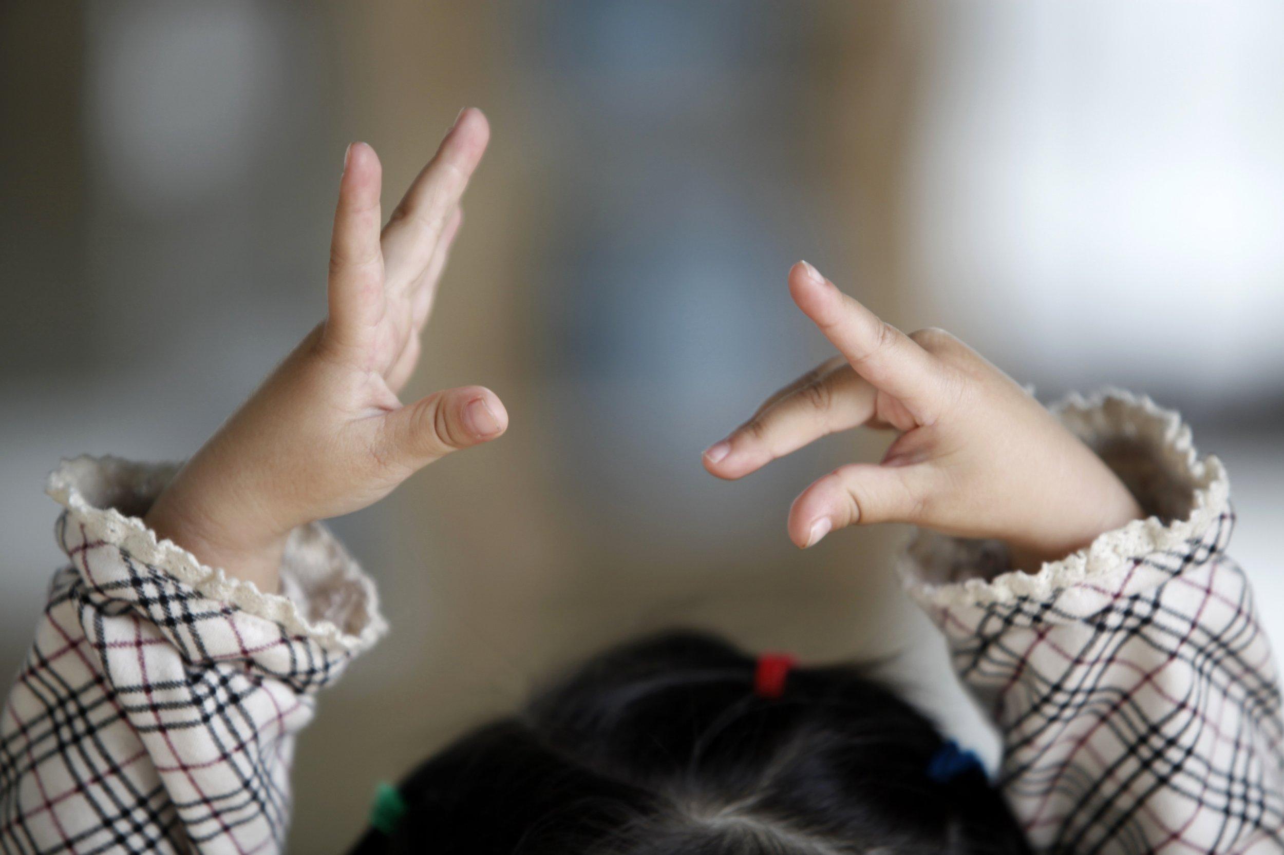 Little dancer's hands
