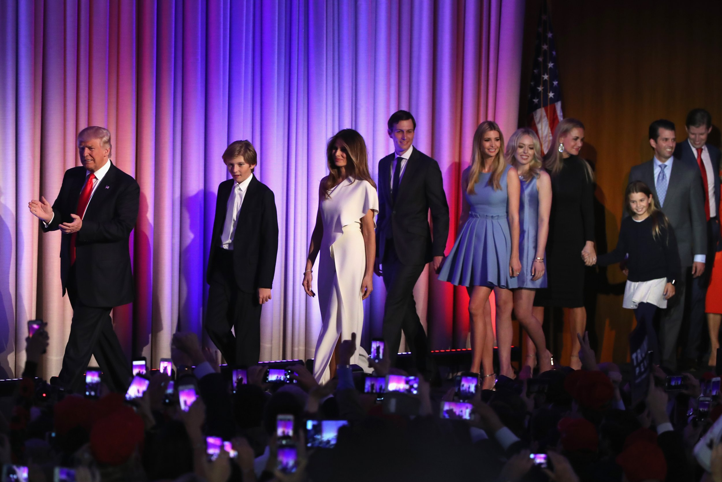 Donald Trump and his family
