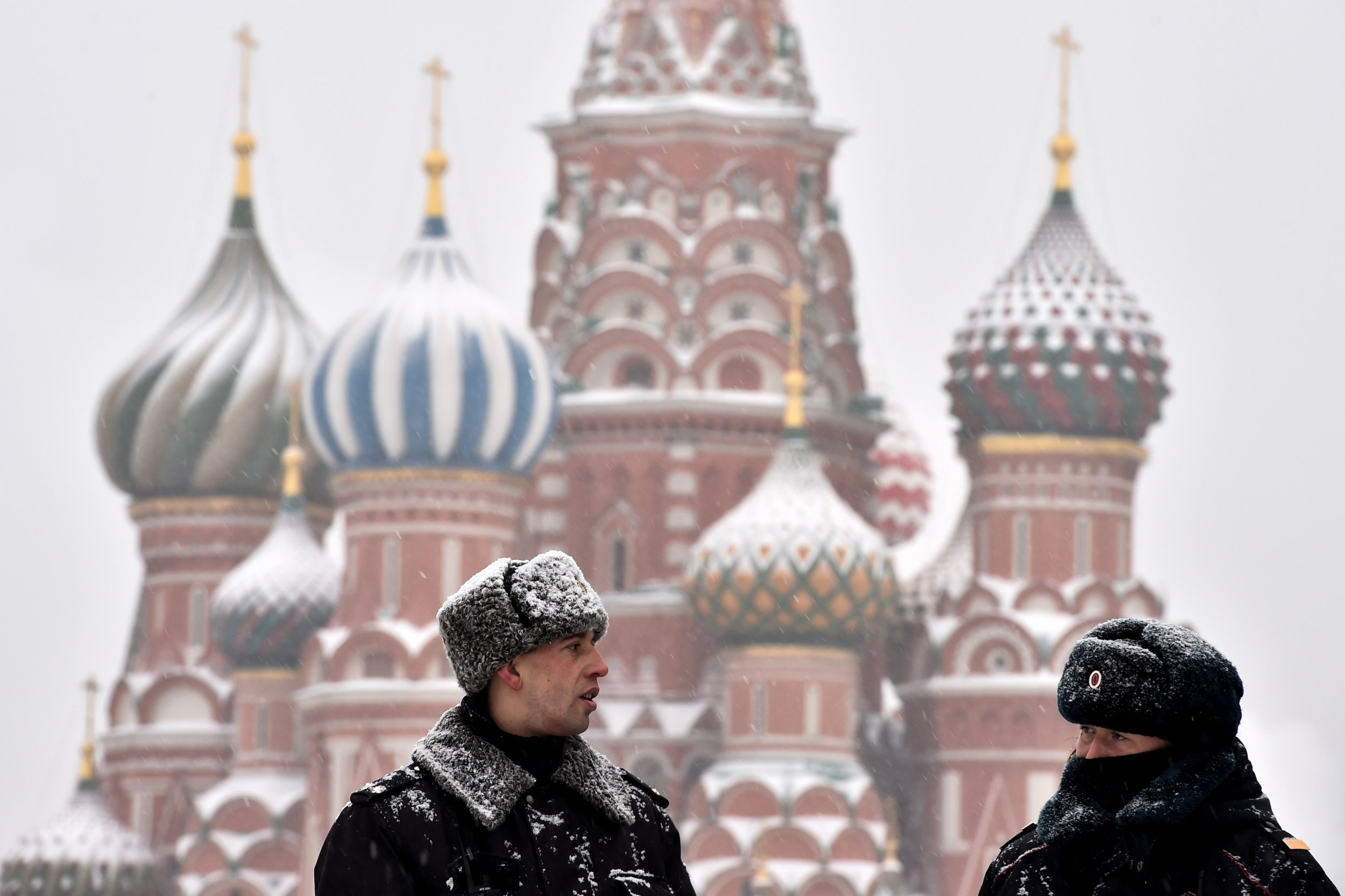 Russian police in Moscow