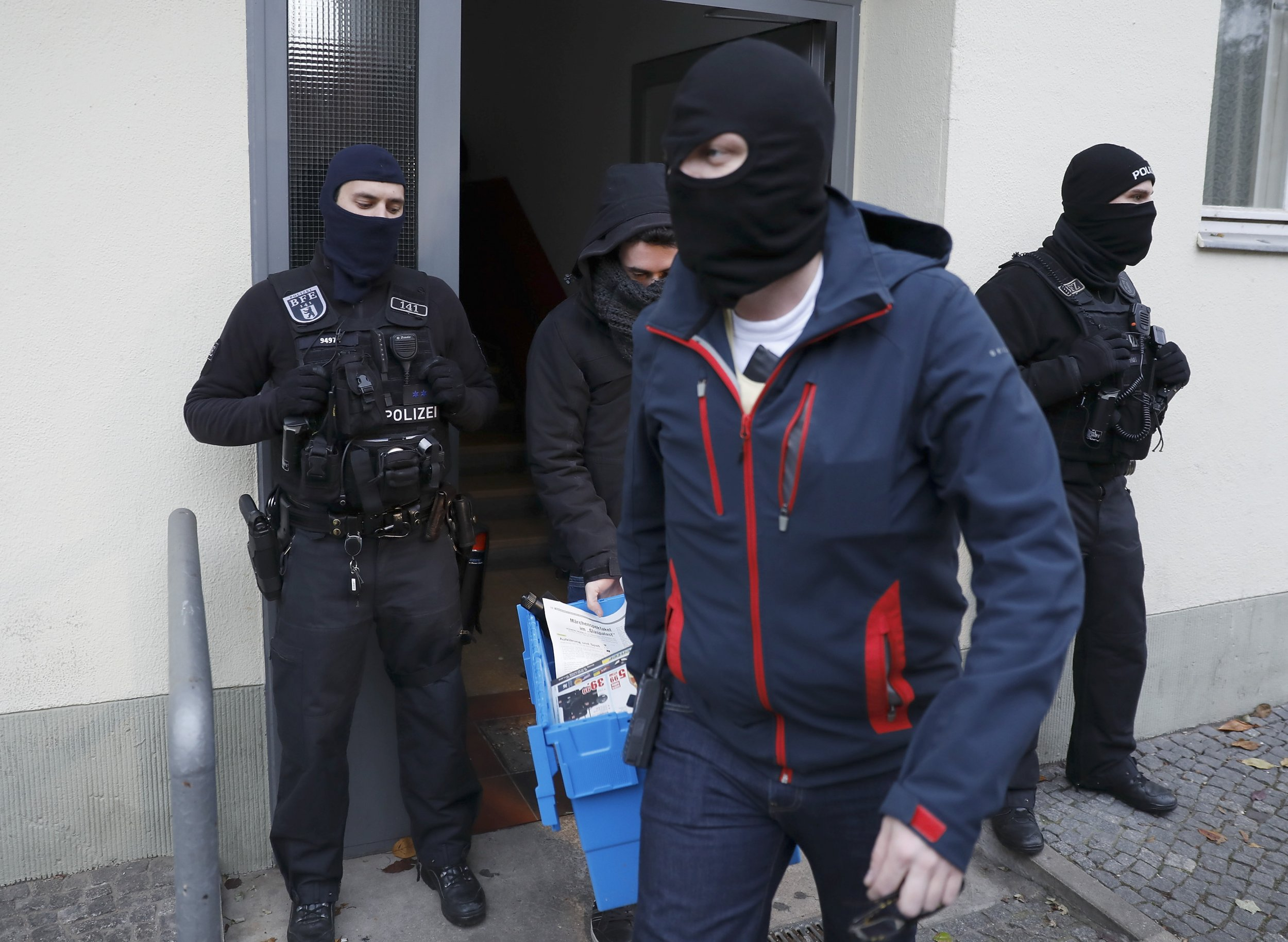 German police carry out a raid