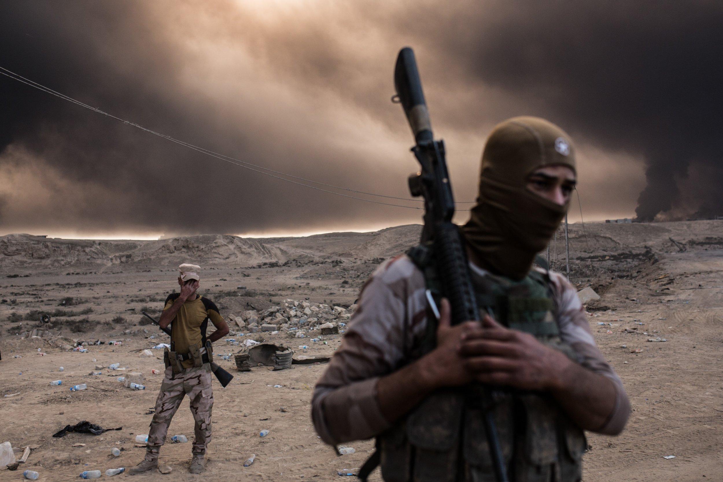 Iraqi forces near Mosul