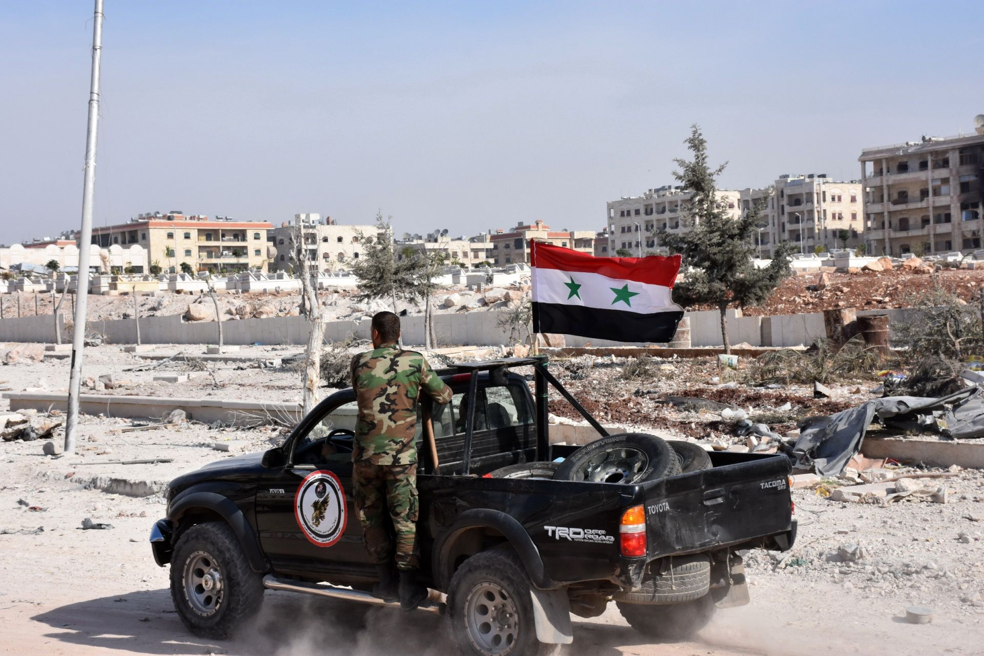 Syrian army vehicle