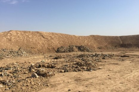 The mass grave discovered by Iraqi forces