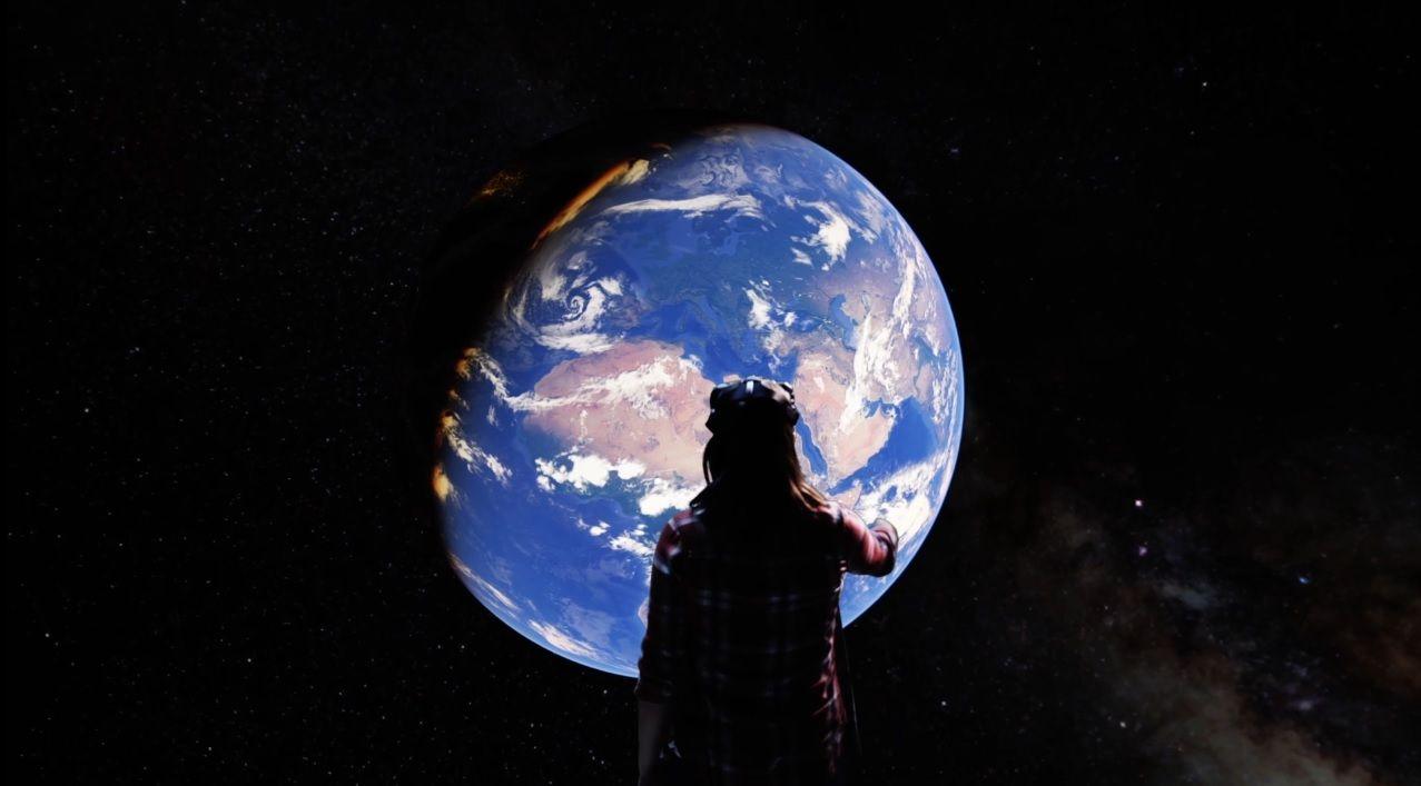 Virtual reality google earth VR