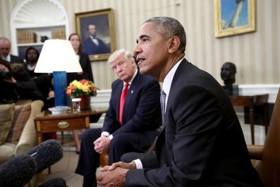 Barack Obama and Donald Trump