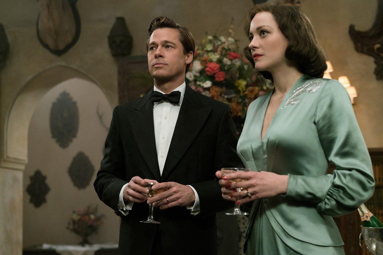 Brad Pitt and Marion Cotillard in Allied.