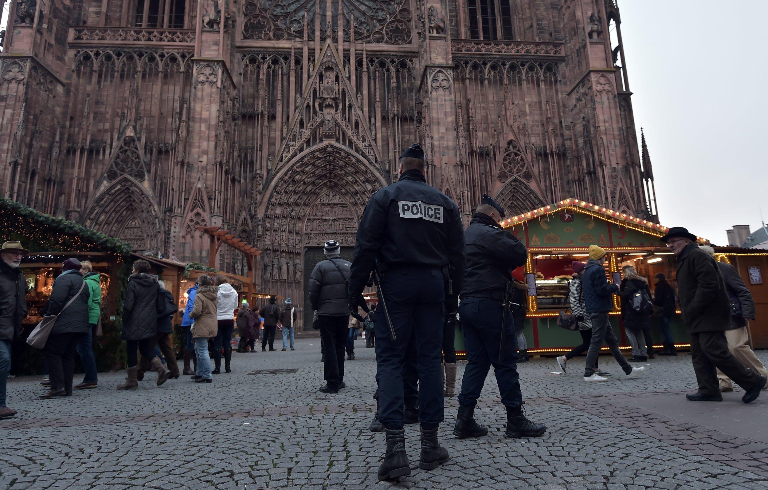French police in Strasbourg