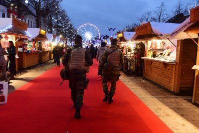 Police at Brussels Christmas Market