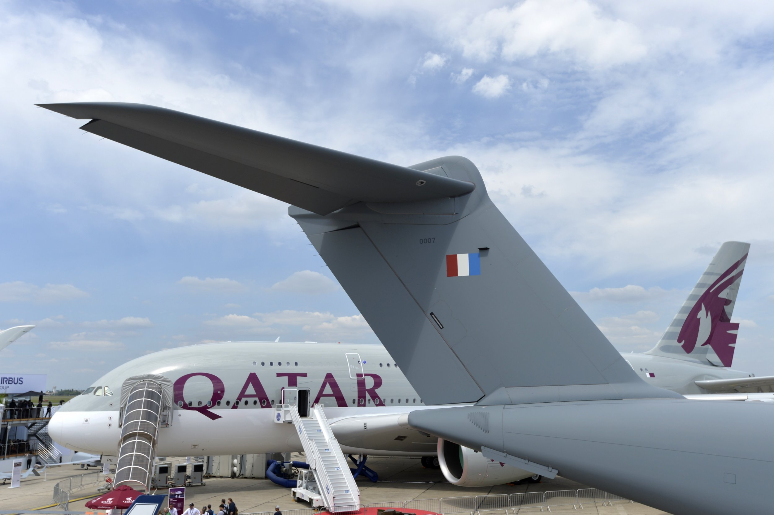 Qatar Airways at Le Bourget airport