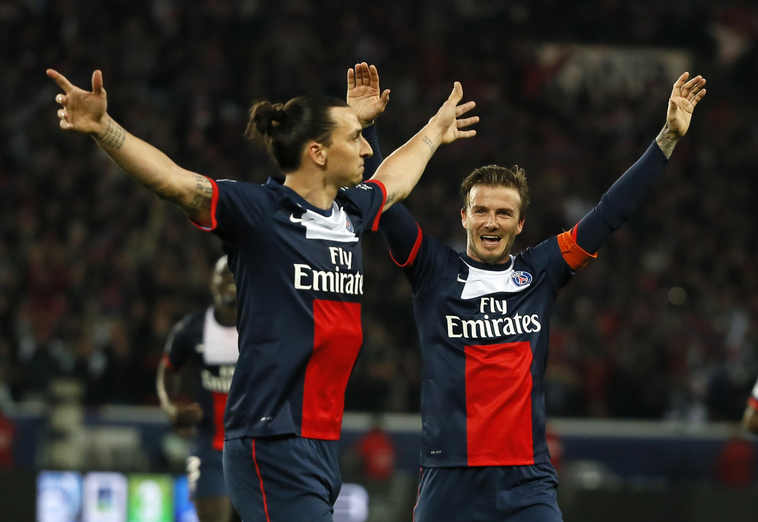 Zlatan Ibrahimovic and David Beckham