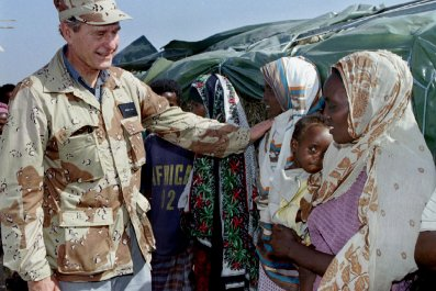 George Bush in Somalia