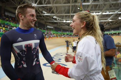 Jason Kenny, left, and Laura Kenny.