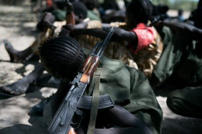 South Sudan child soldier