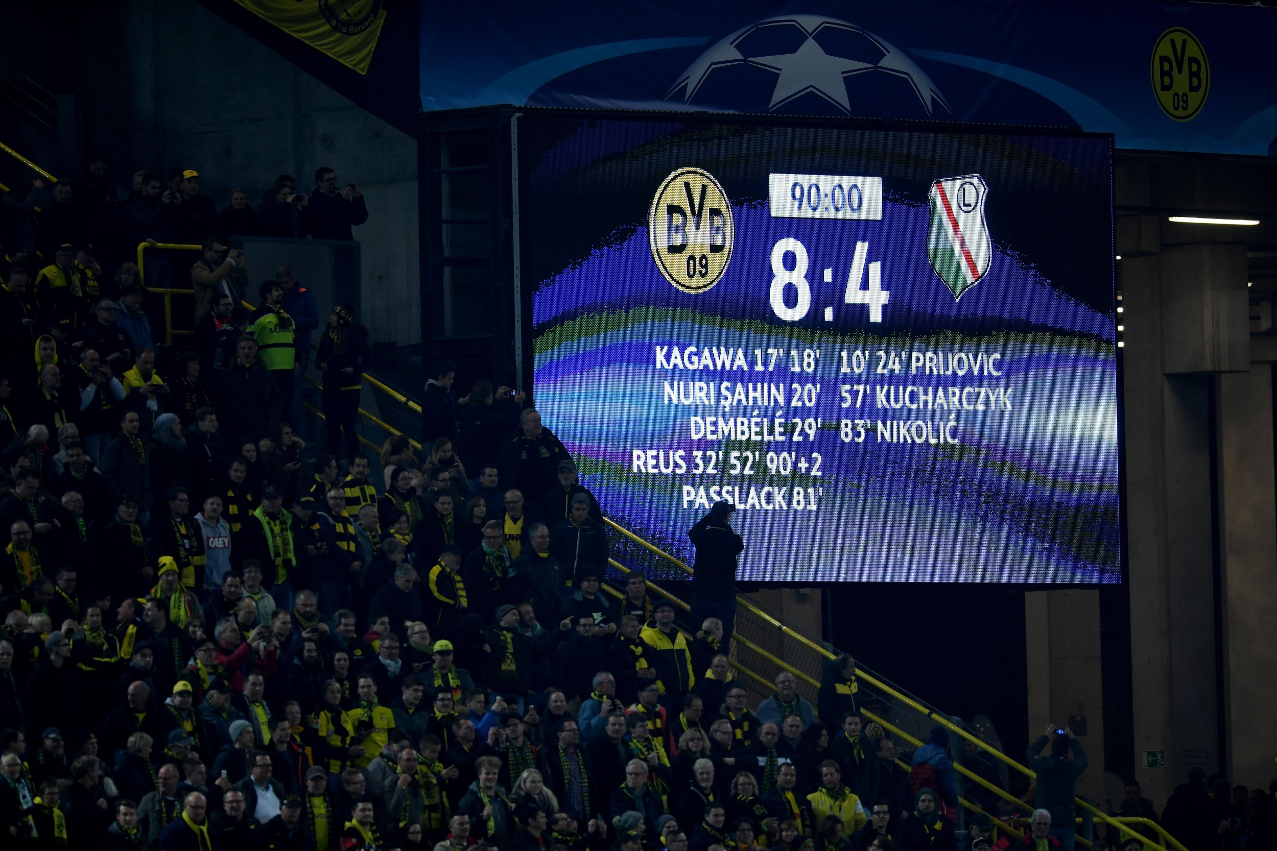 Borussia Dortmund and Legia Warsaw Just Played the Craziest Ever Champions League Game