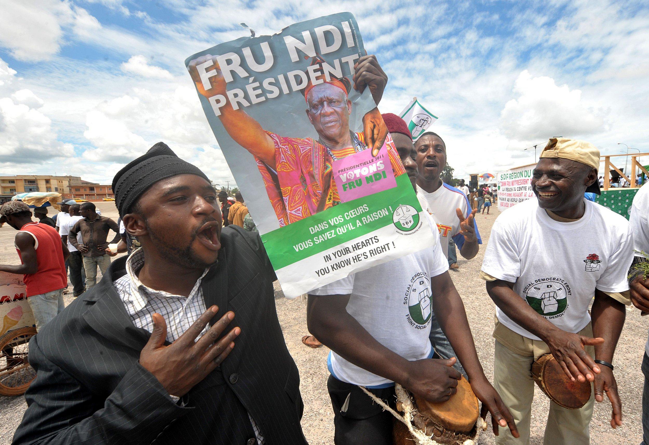 John Fru Ndi rally