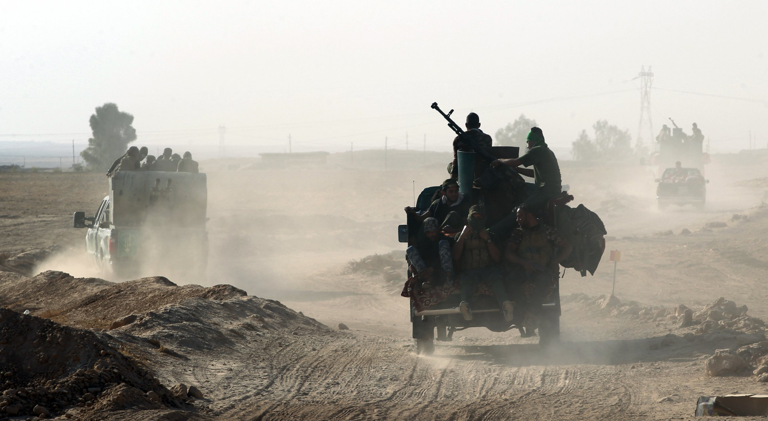 Iraqi Shia forces near Mosul