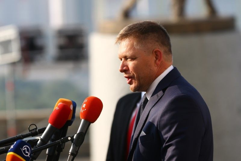 Slovakia's Prime Minister Robert Fico
