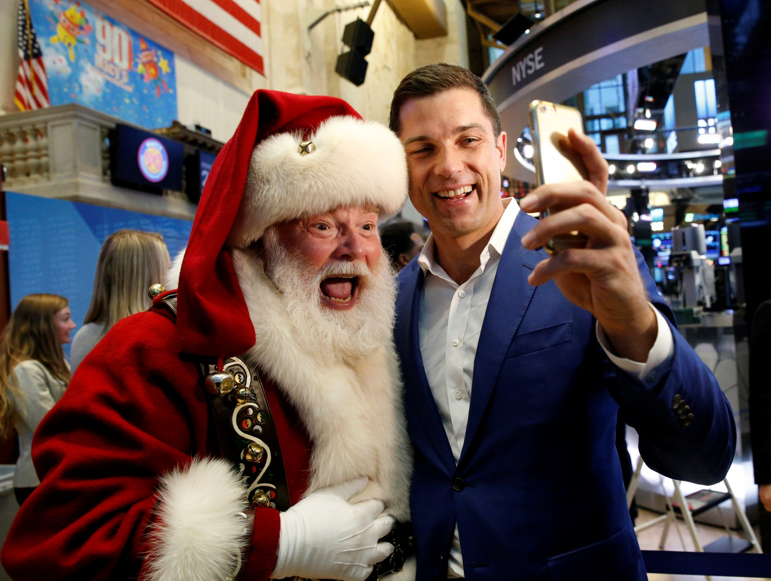 Santa and Tom Farley