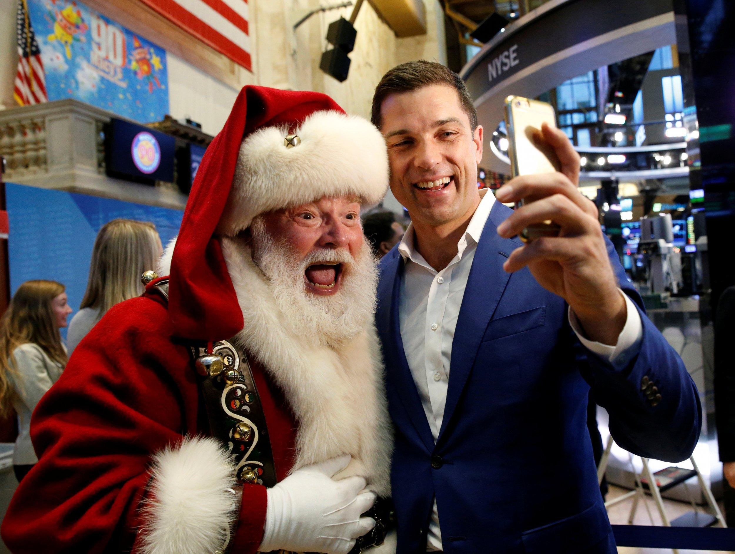 Santa and Tom Farley