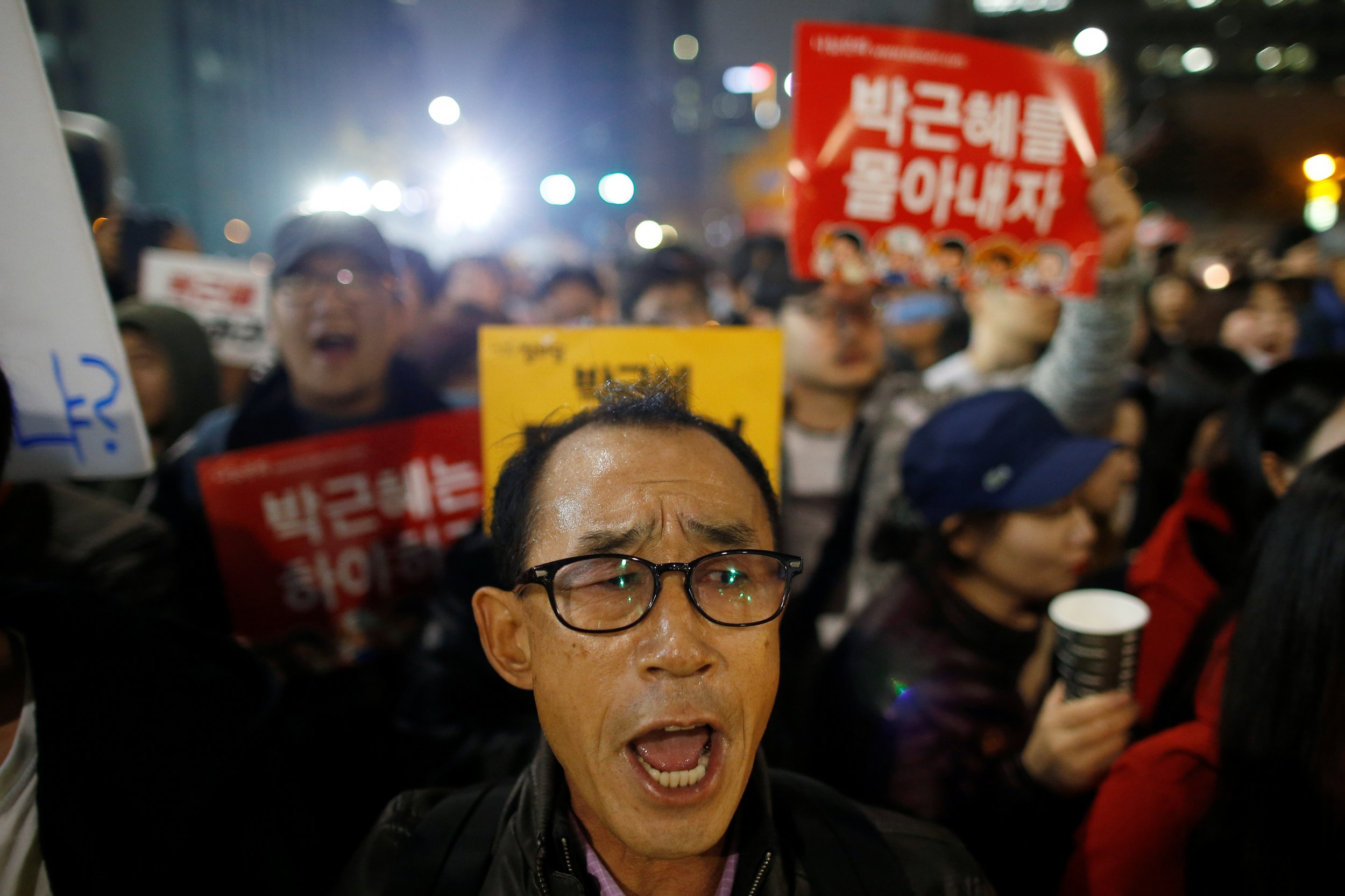 South Korea Protesters