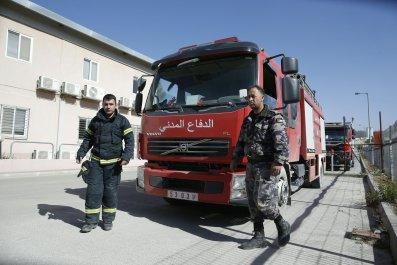 Palestinian firefighters