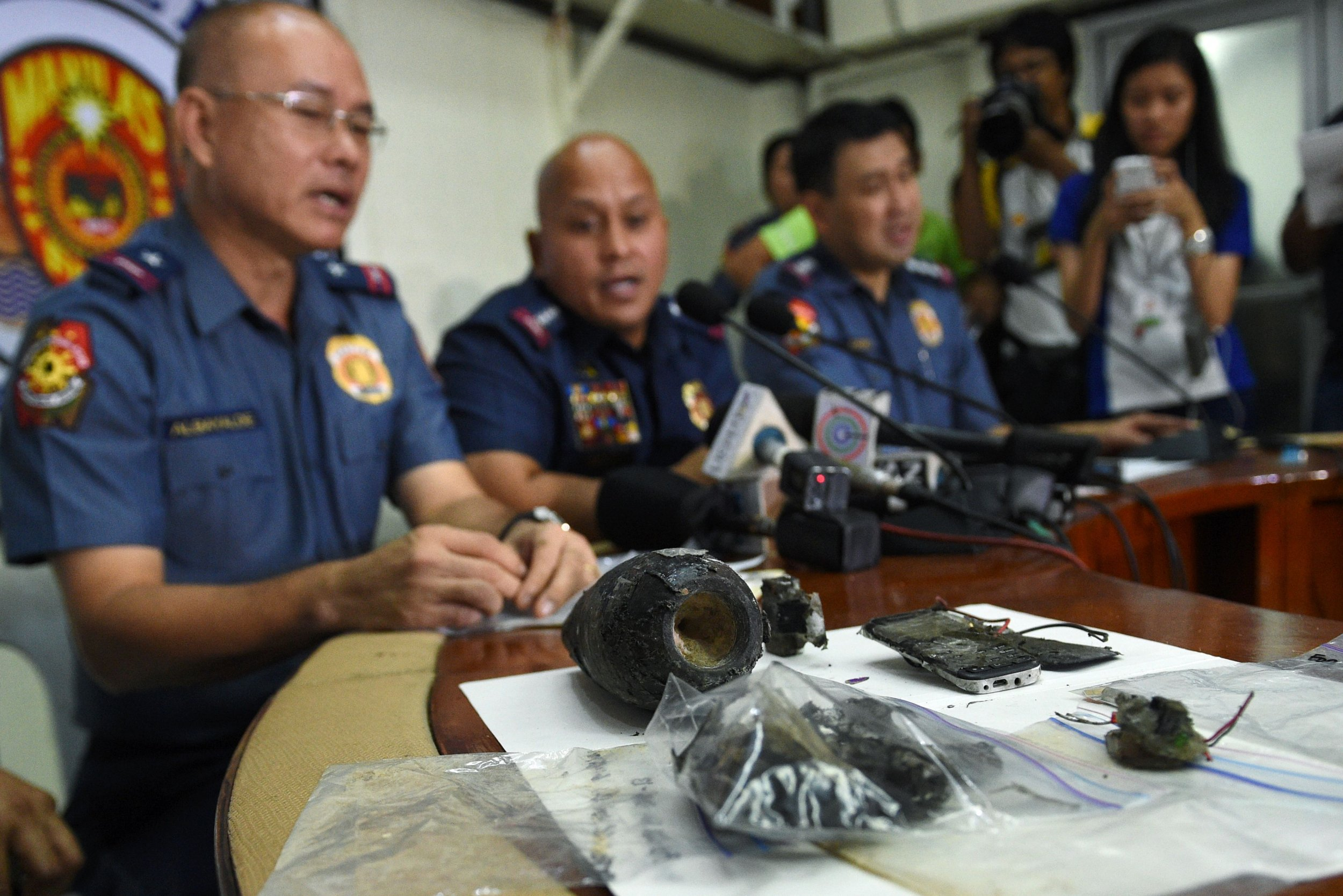 Philippines bomb press conference