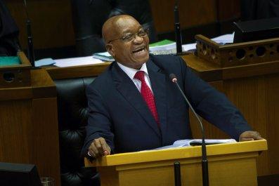 Jacob Zuma laughing