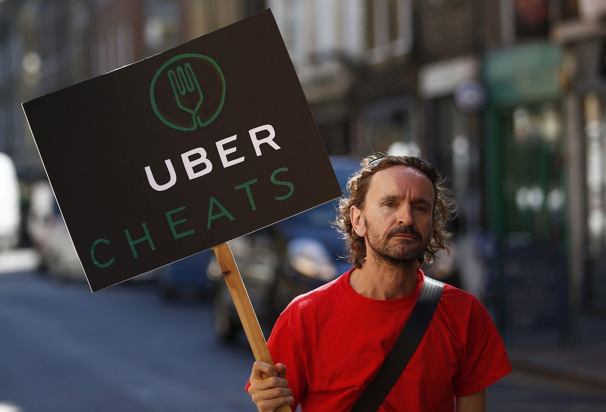 Uber strike protest minimum wage