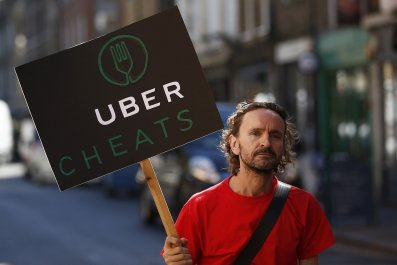 Uber strike protest minimum wage