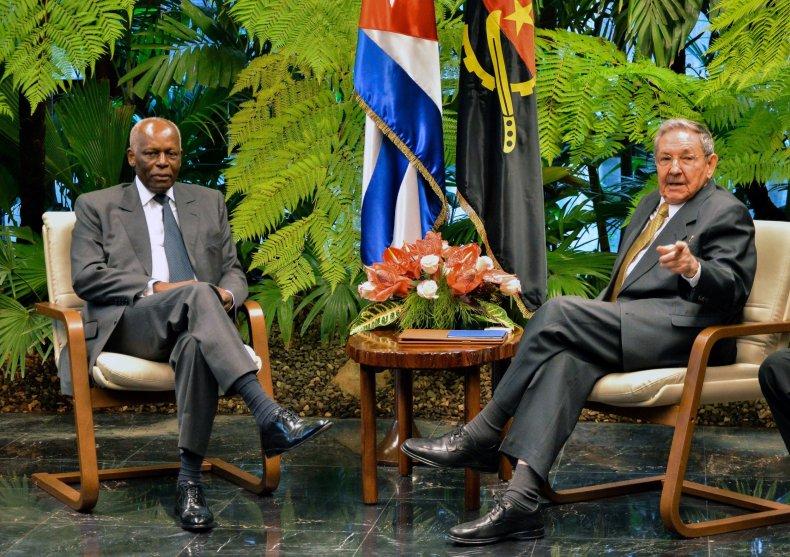 Angola and Cuban presidents
