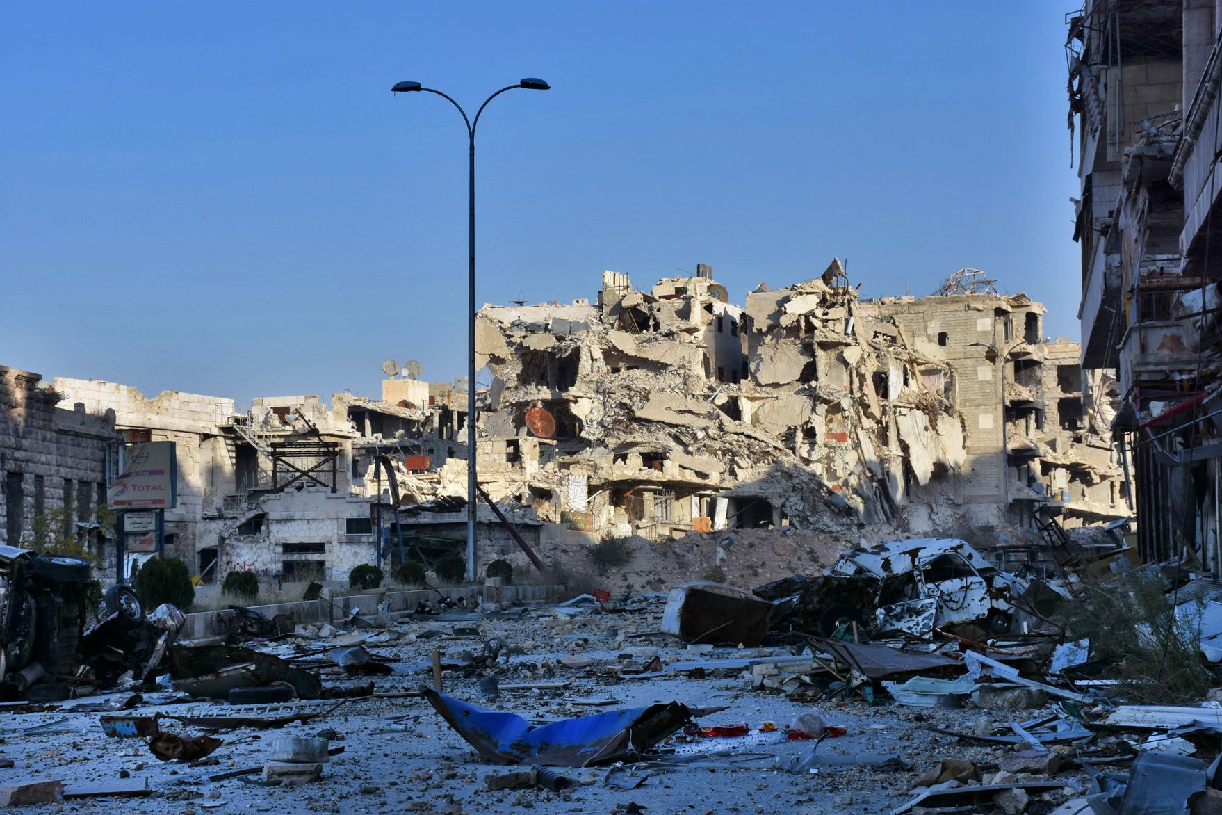 Aleppo's Bustan al-Basha neighborhood