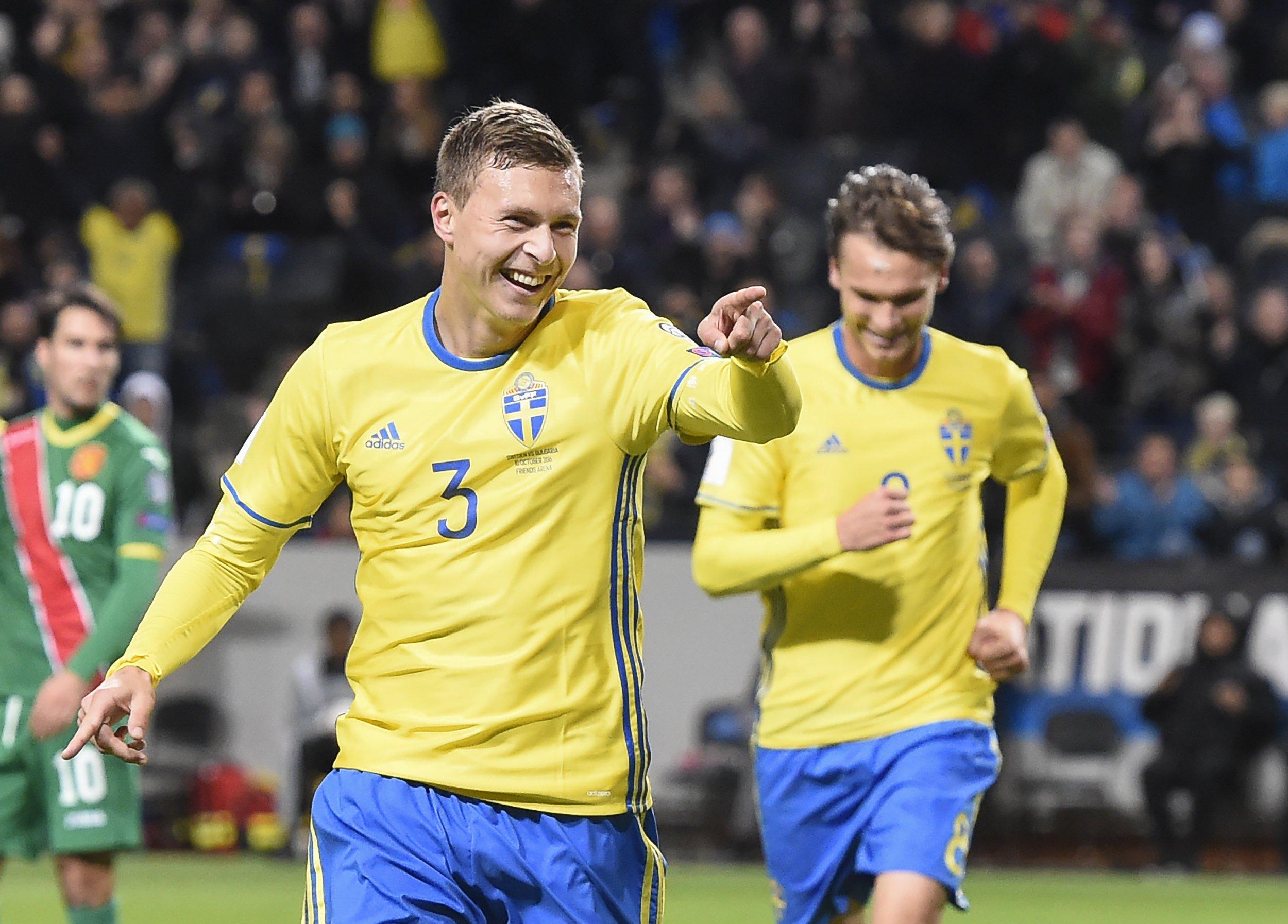Sweden defender Victor Lindelof in Solna, Stockholm, Sweden.