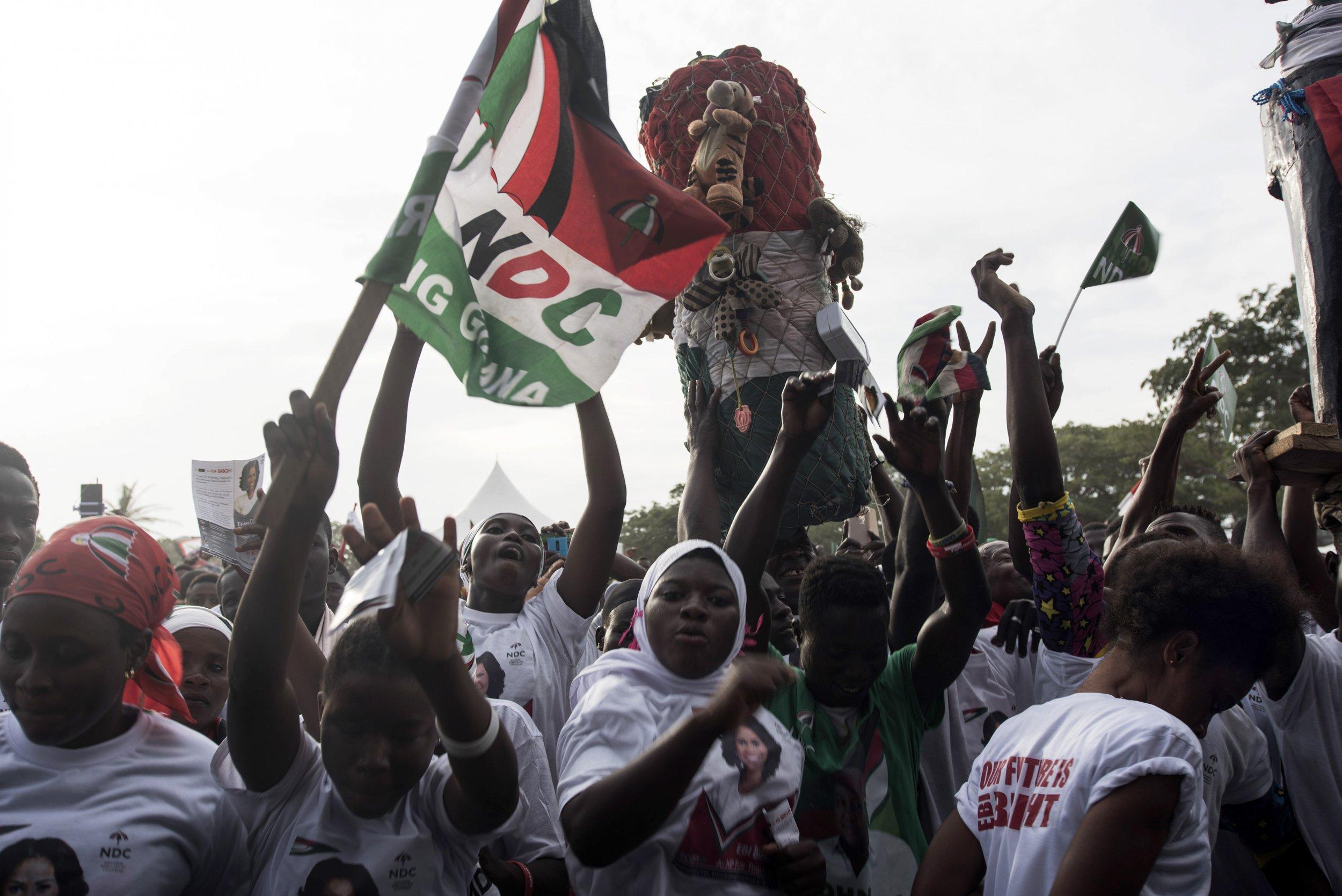 Ghana NDC rally