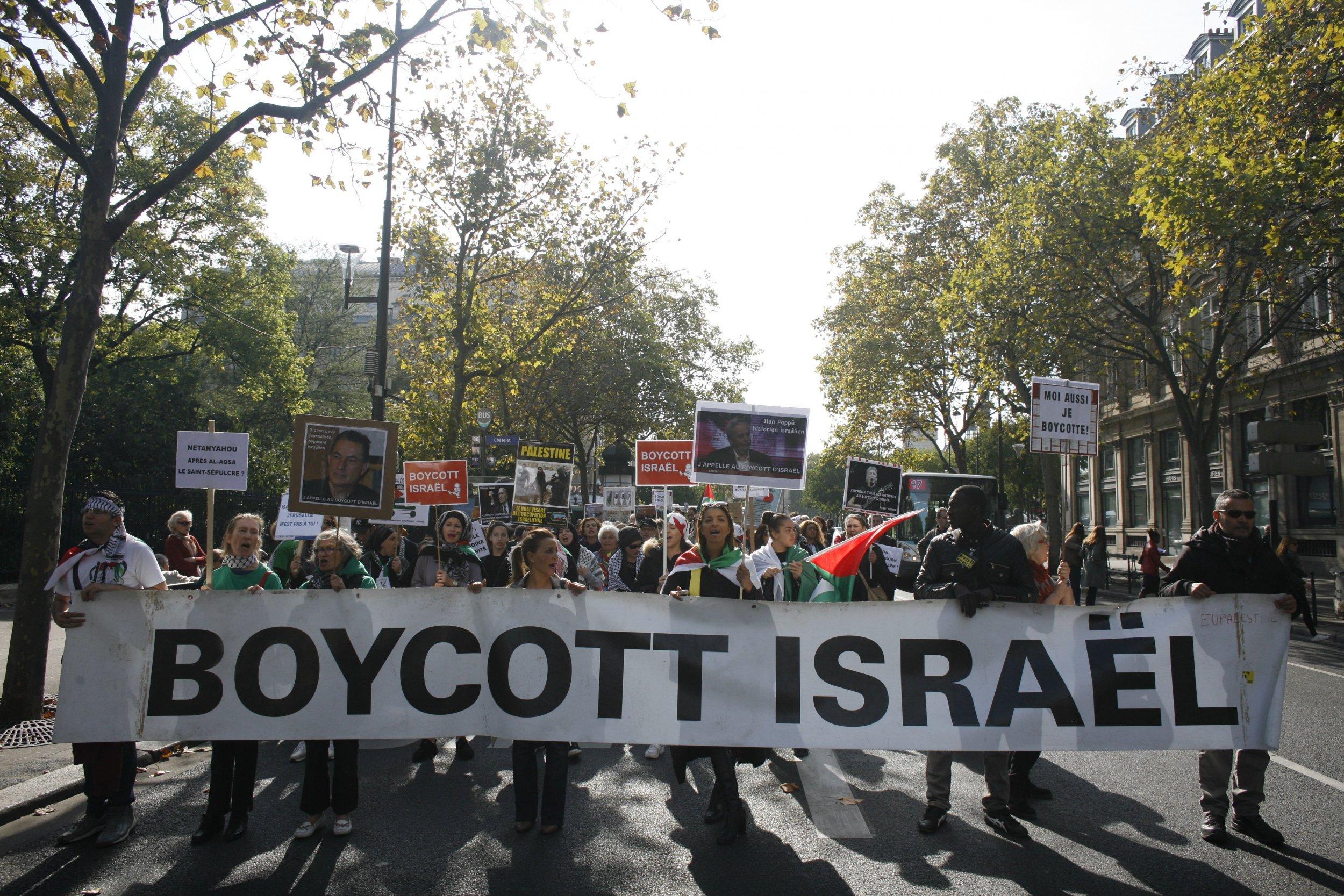 Boycott Israel protest in Paris