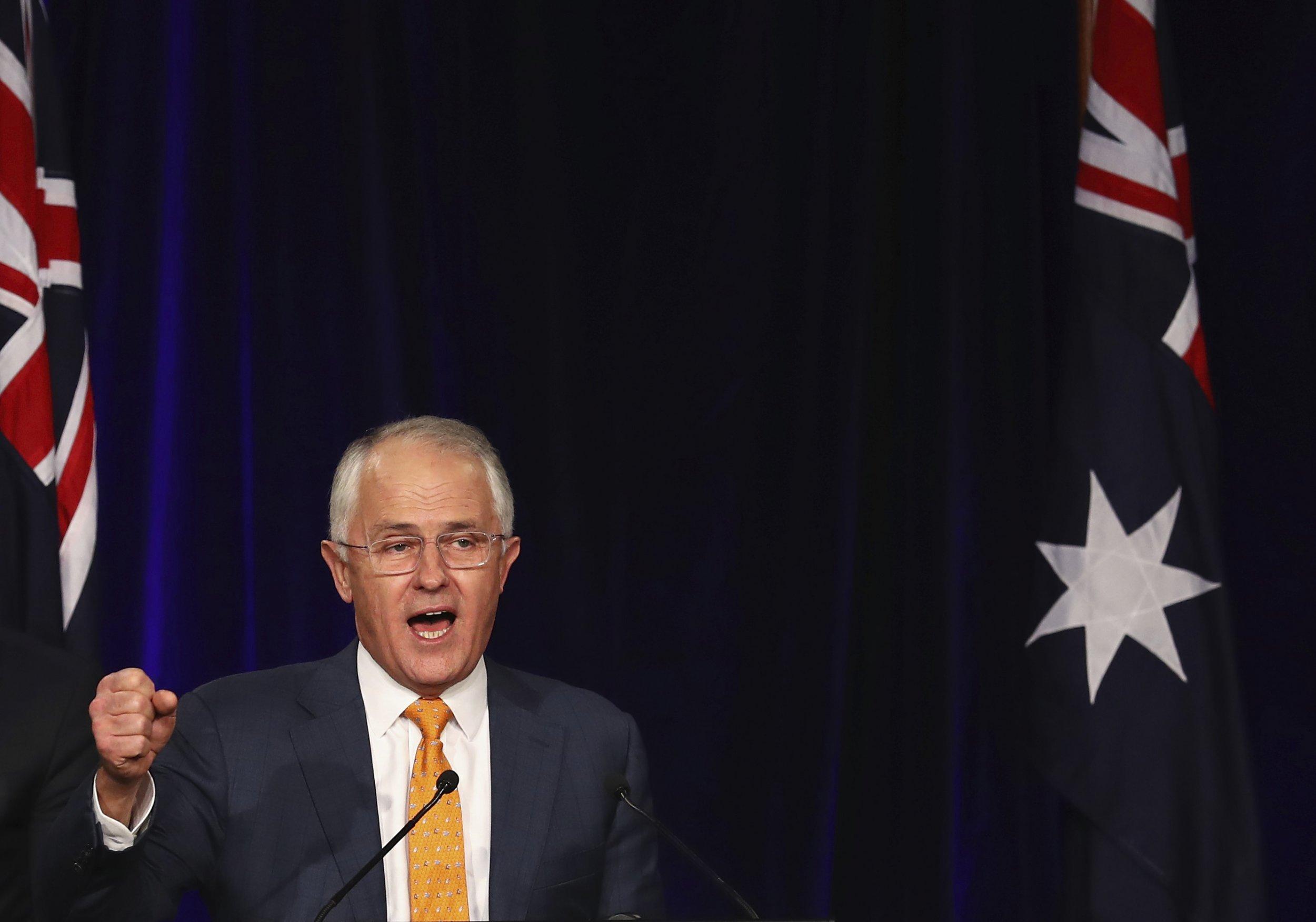 Australia PM Malcom Turnbull
