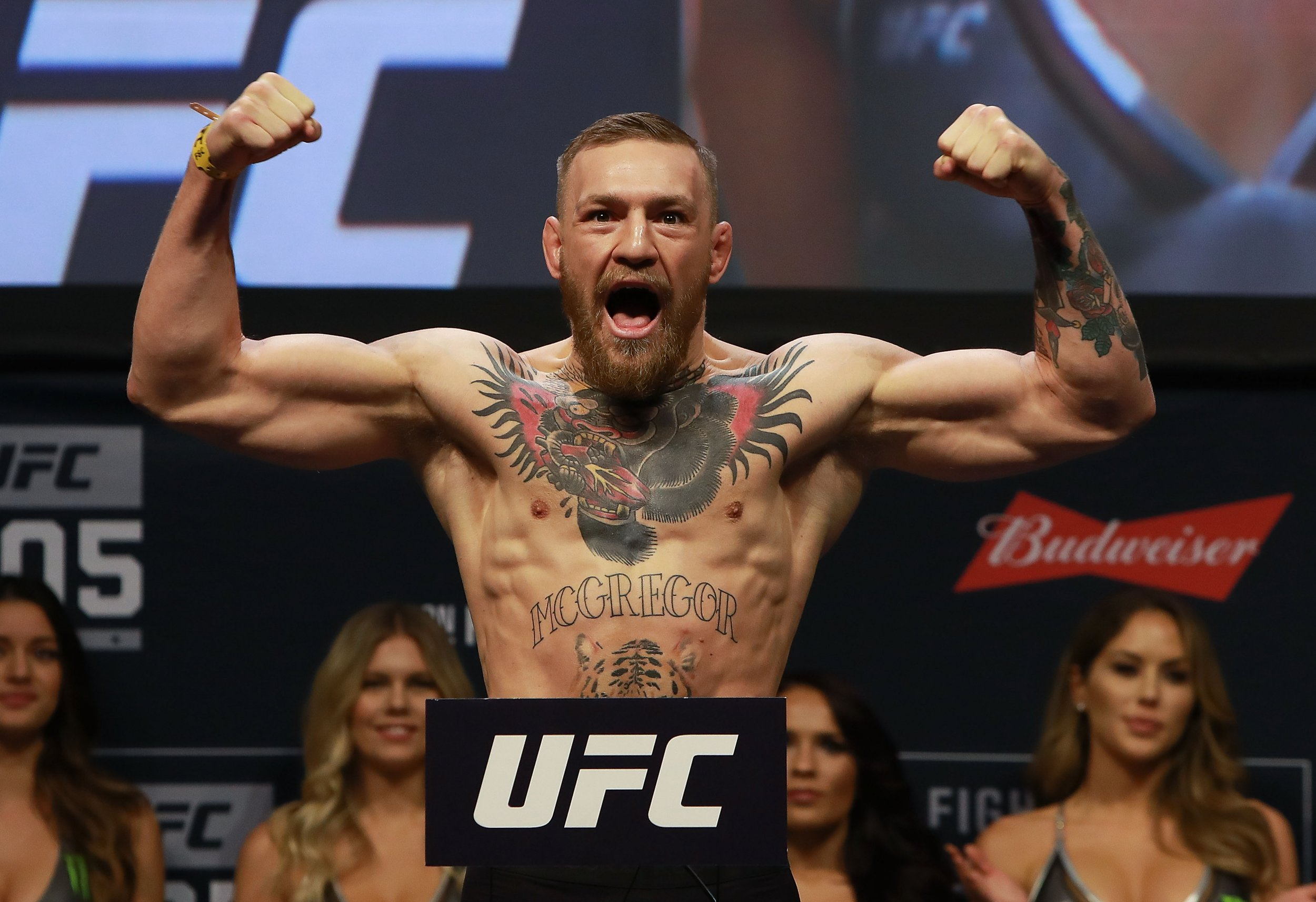 UFC lightweight champion Conor McGregor.