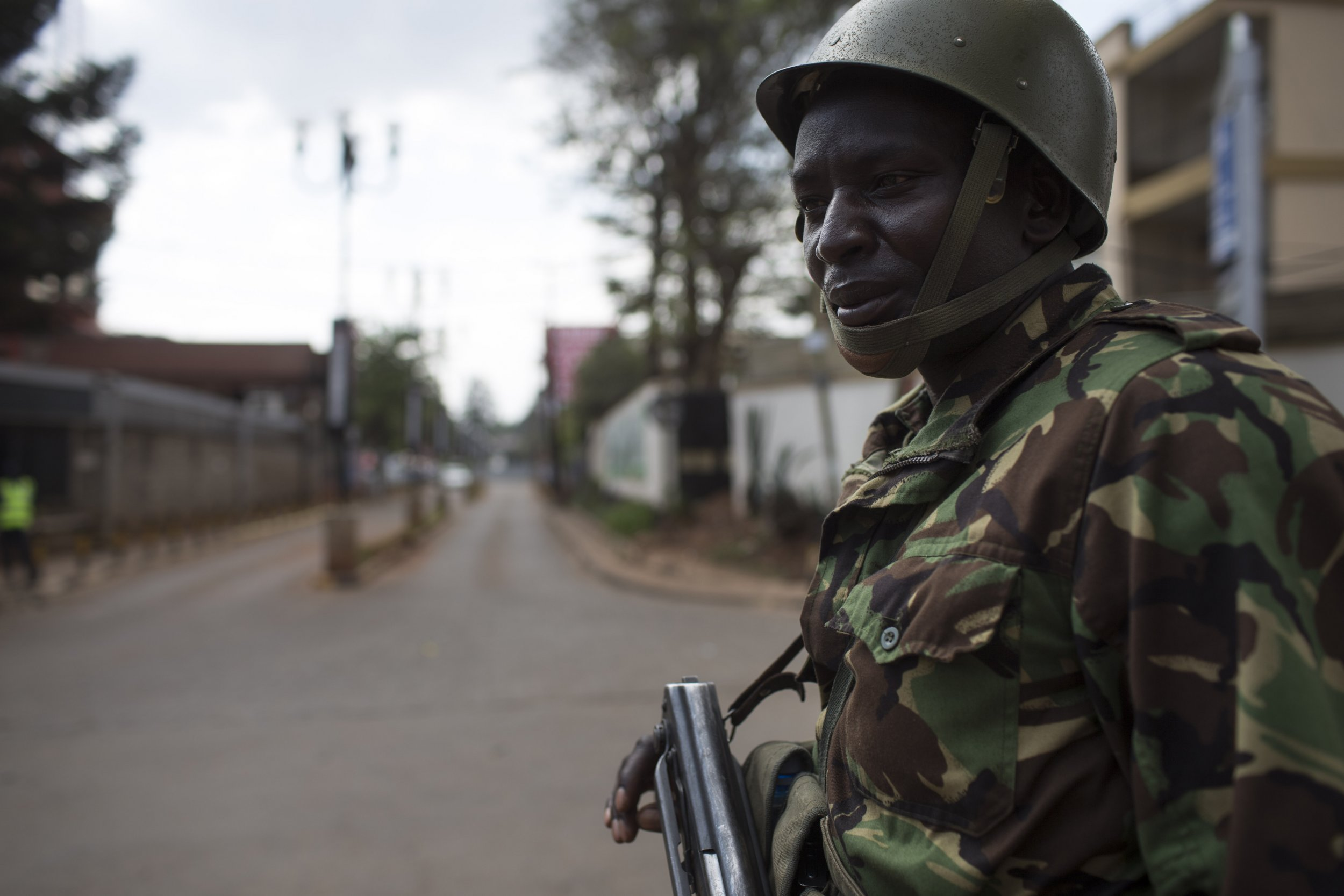 Kenya soldier in Nairobi