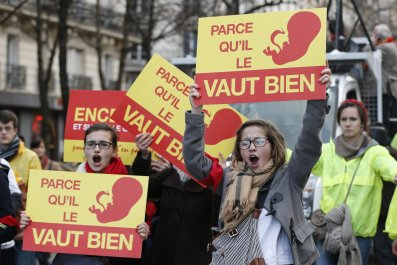 Anti abortion protest france