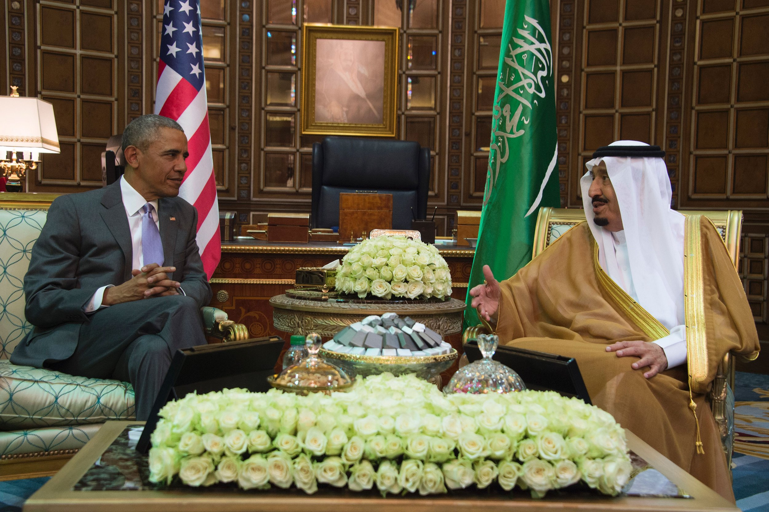 Barack Obama and Saudi's King Salman