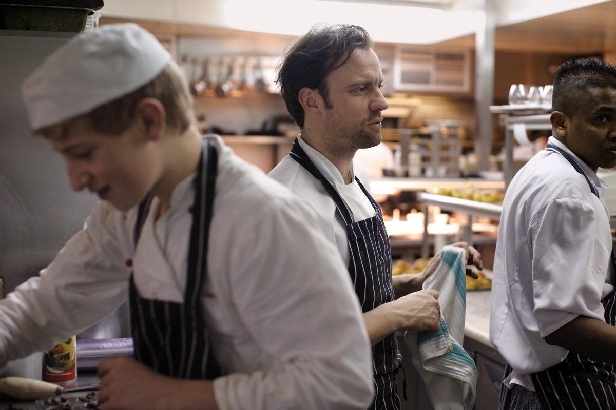 Chef Brett Graham at the Ledbury