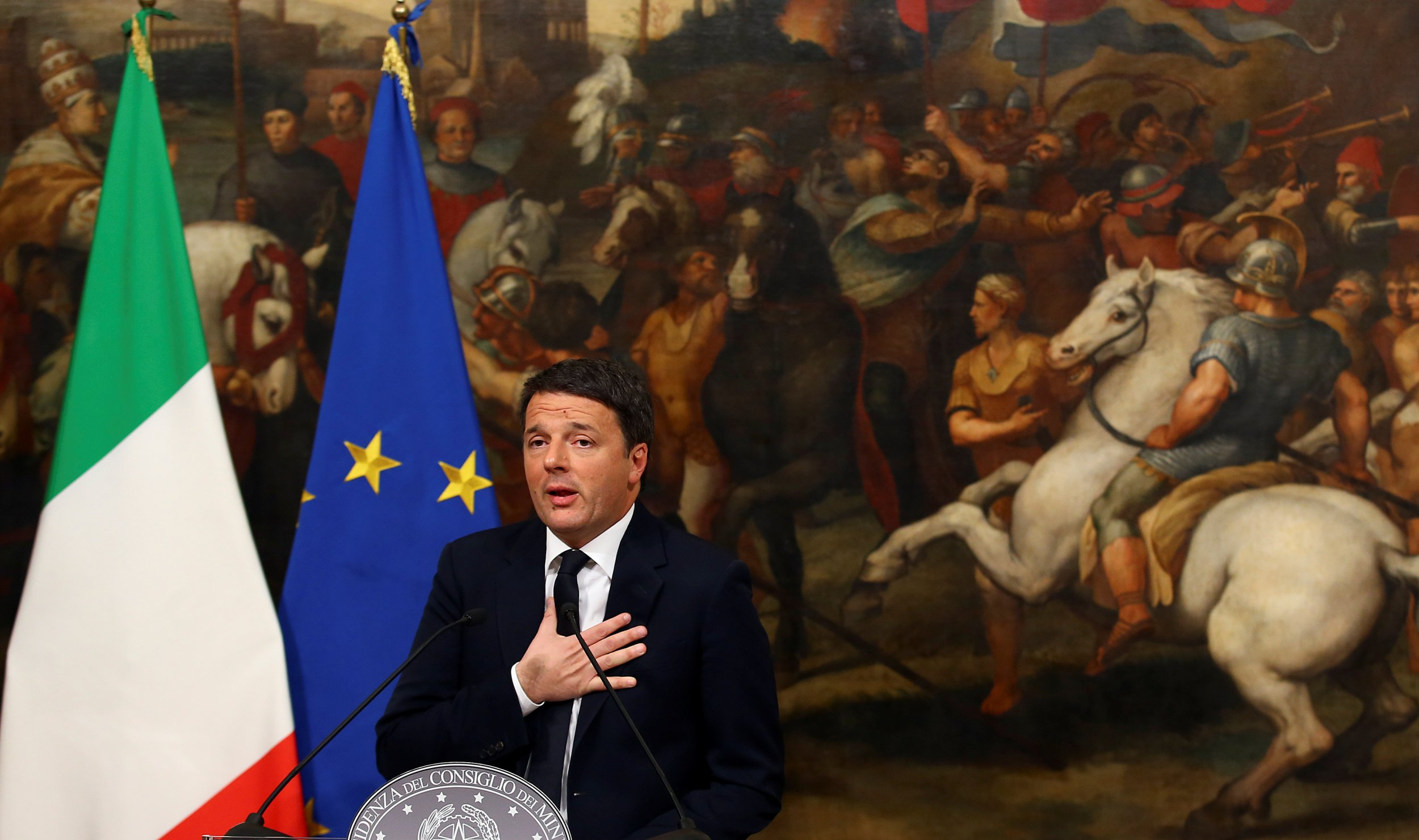 Renzi speaking
