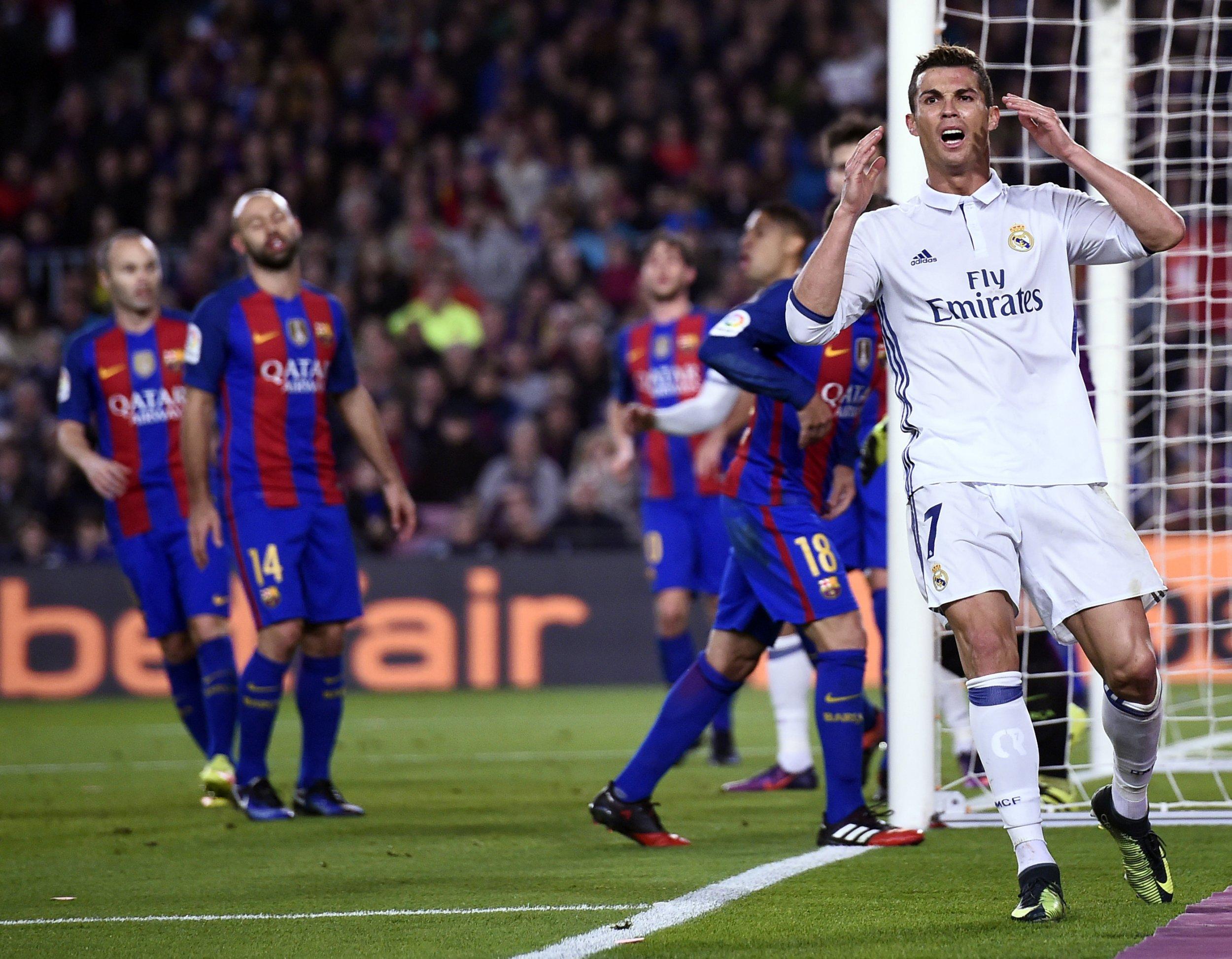 Real Madrid star Cristiano Ronaldo, right.