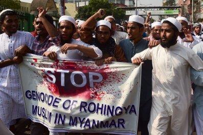 Rohingya protest Bangladesh