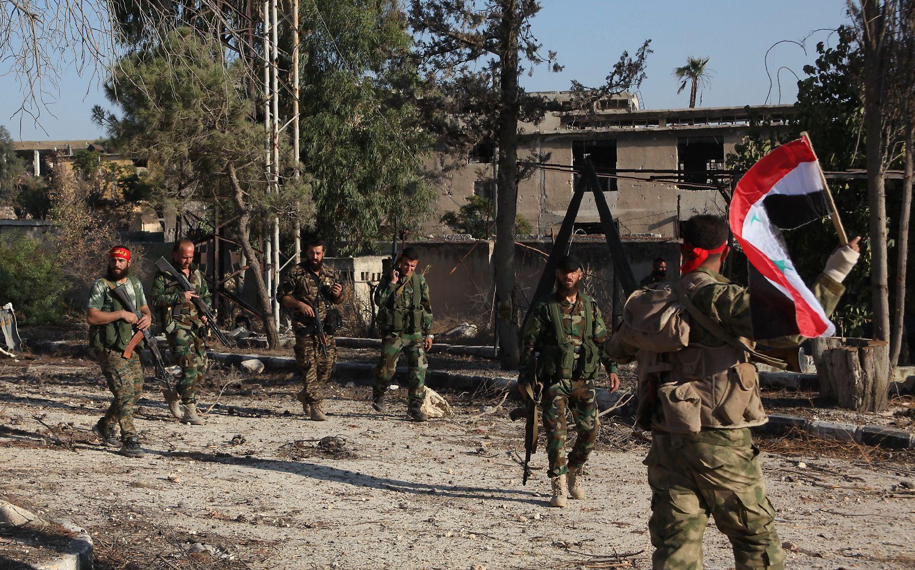 Aleppo pro-government soldiers
