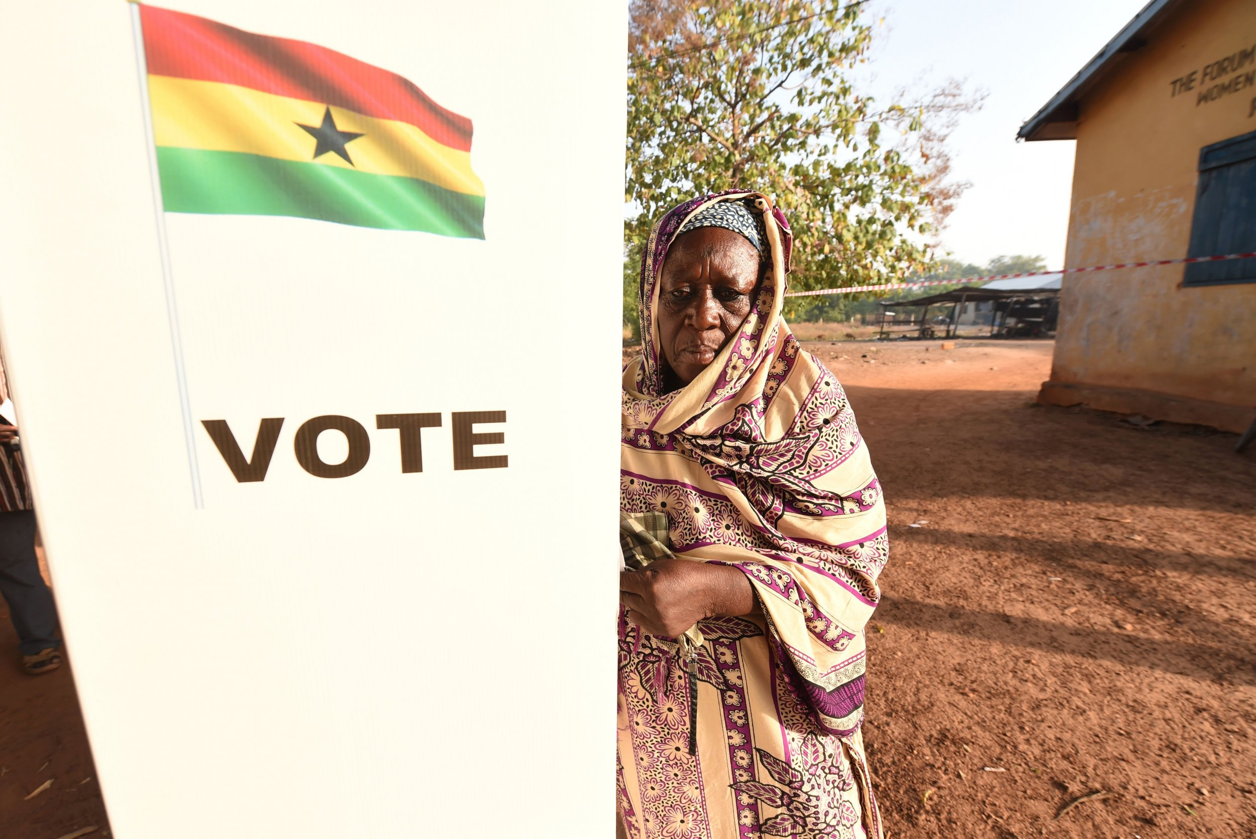 Ghana voting booth