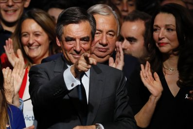 French presidential candidate Francois Fillon